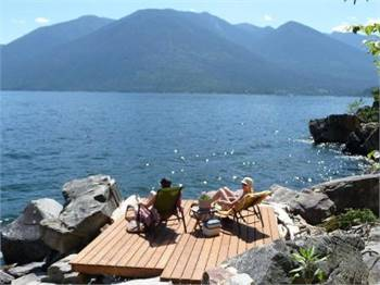 McEwan Point Lakefront Cabin, Kootenay Lake, BC